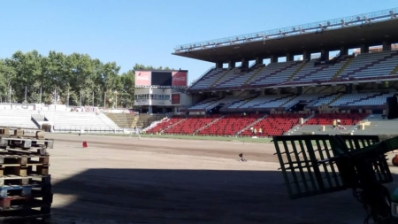 El aspecto de la grada del Estadio de Vallecas